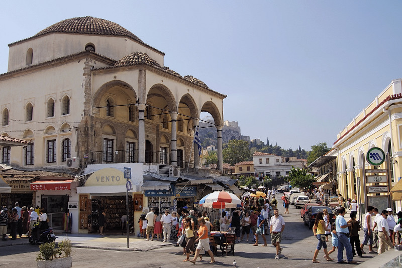 Monastiraki Market Square in Central Athens