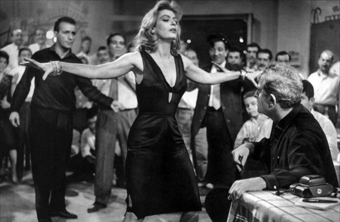 Melina Mercouri's famous dance in the film Never on Sunday. 