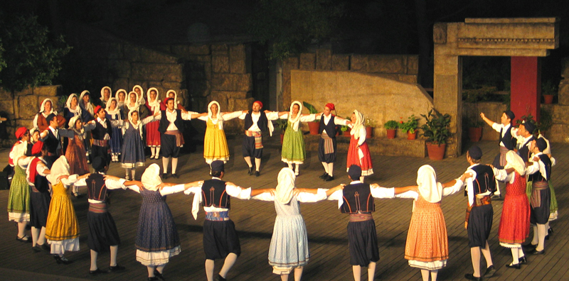 The Folk Dance Group of Naousa Performing Traditional Dances of the Aegean Islands