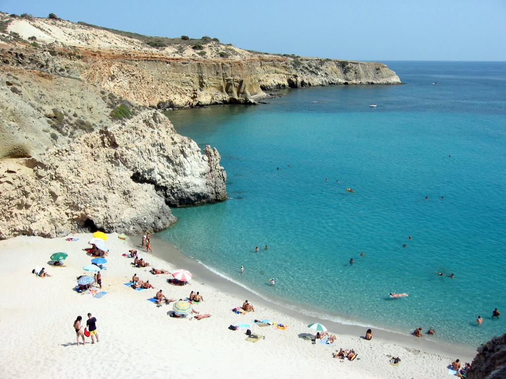 No one can resist this beach on the Greek island of Milos.