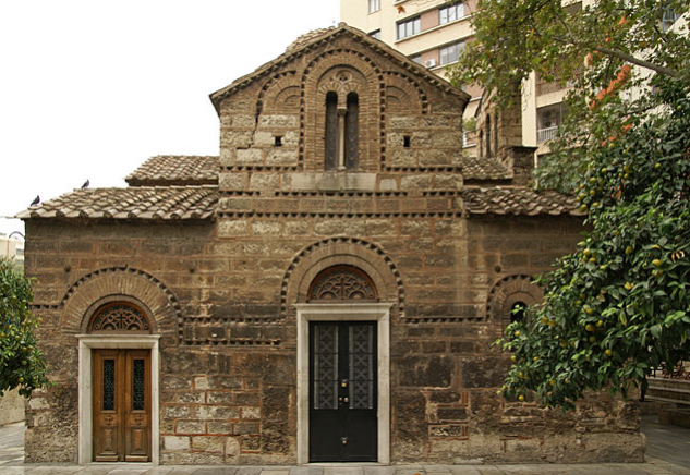 The church of Aghioi Theodori, near Klafthmonos Str. in the center of Athens