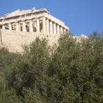 The Parthenon Temple on the Acropolis of Athens