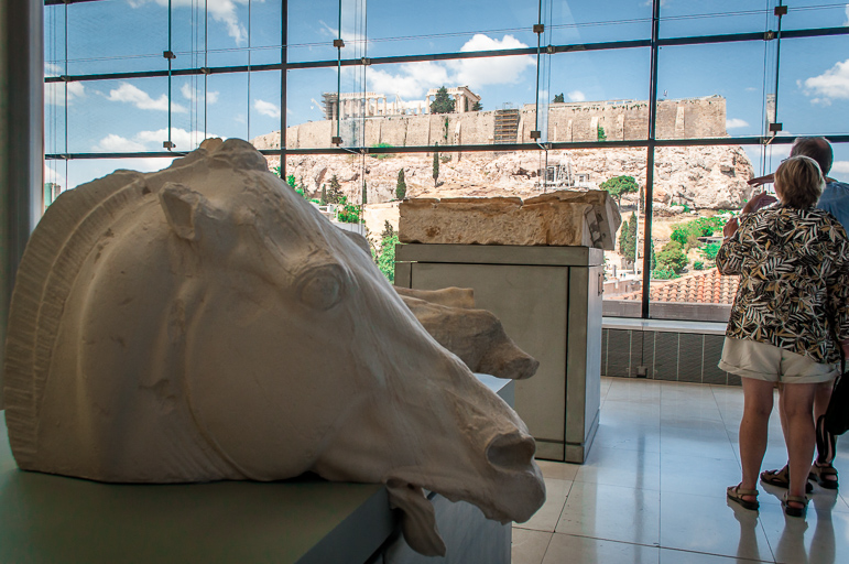 Head from the four-horse chariot of Selene at the Acropolis Museum