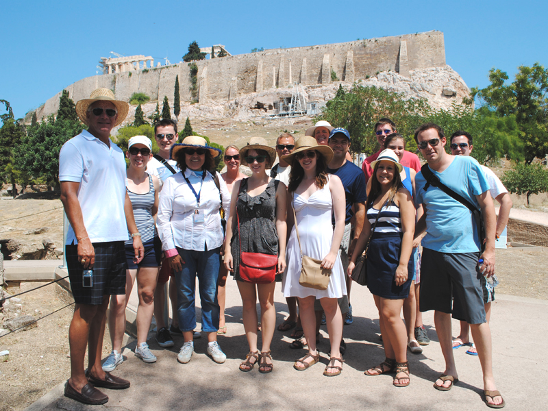 AWT Athens Tour at the Acropolis