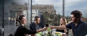 The best view of the Acropolis and great food too!