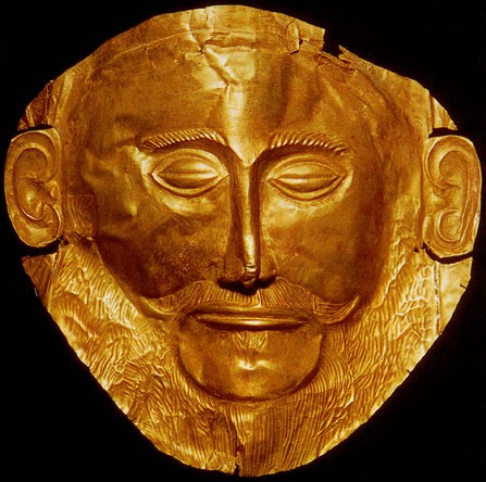 The famous mask of Agamemnon found by Heinrich Schliemann