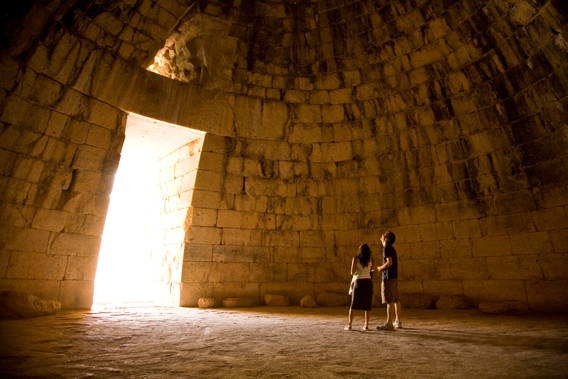 The Tomb of Agamemnon at the site of Mycenae