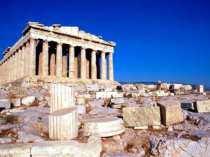 The sacred temple of the Acropolis