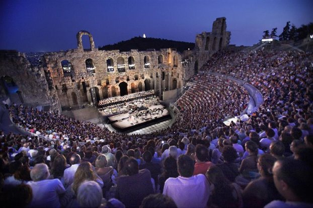 Athens-Festival At the Herodion Classical Greek Theater