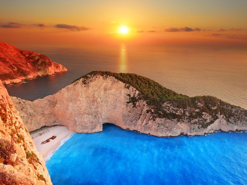 Perhaps the most photgraphed beach in Greece - Navagio-beach-in-Zakynthos