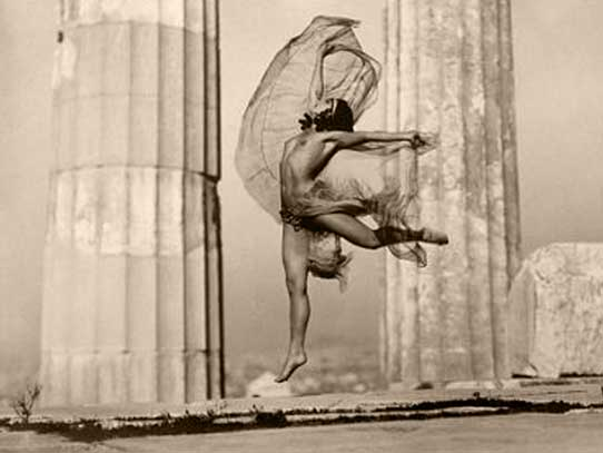 THE HUNGARIAN DANCER NIKOLSKA AT THE PARTHENON BY NELLY - ATHENS 1929