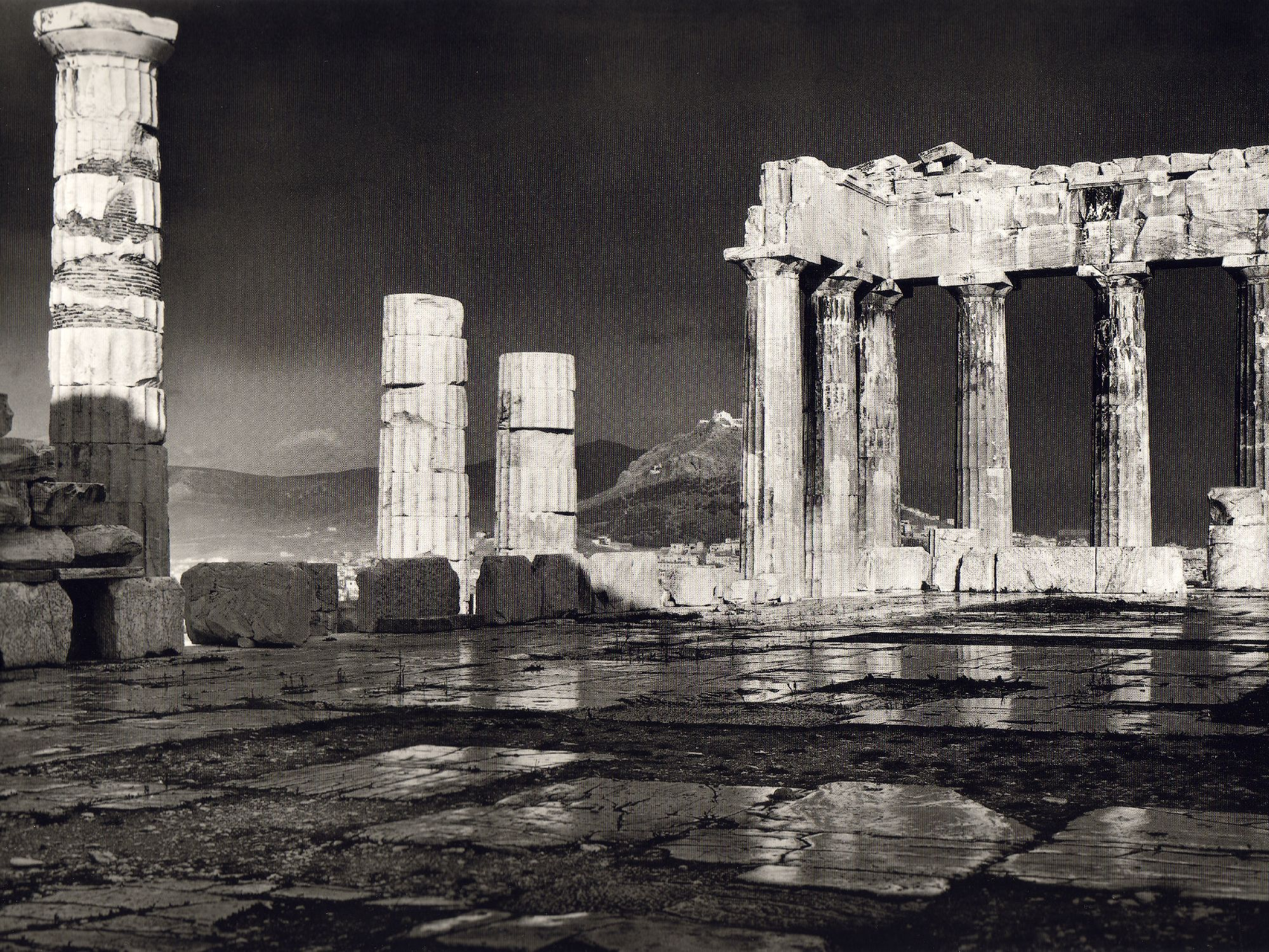THE PARTHENON IN THE RAIN. FREDERIC BOISSONNAS 1903