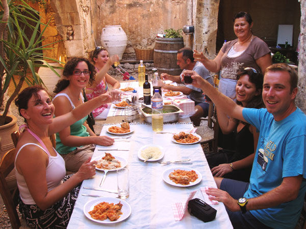 Enjoy great food and superb wines with good friends in Crete