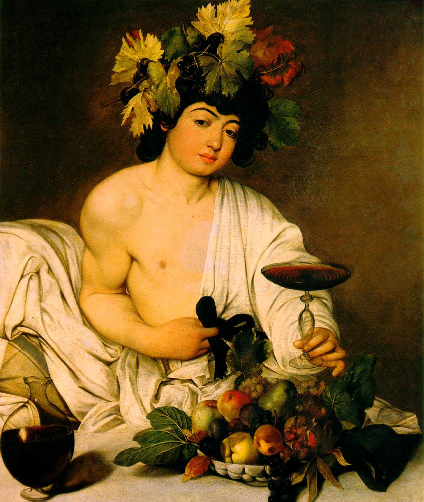 Caravaggio's famous painting of Dionysos