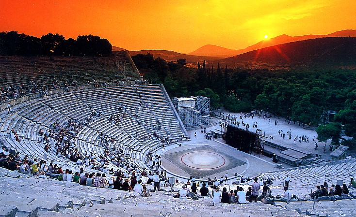 Sunset at the Ancient Epidaurus Theater