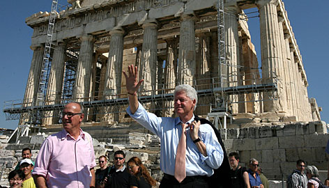 clinton in acropolis