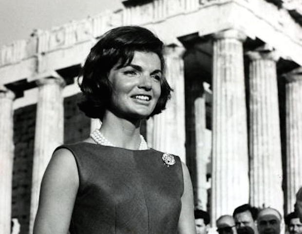Political Personalities, pic: 14th June 1961, Athens, America's First Lady Jacqueline Kennedy, the wife of President Kennedy, pictured at the Acropolis during a visit to Greece