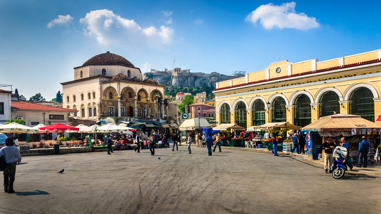 Monastiraki square and metro station