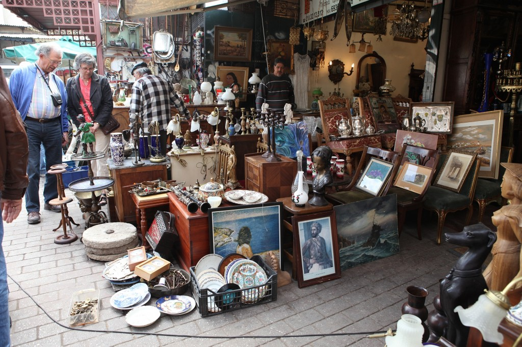 Flea Market at Monastiraki area in central Athens