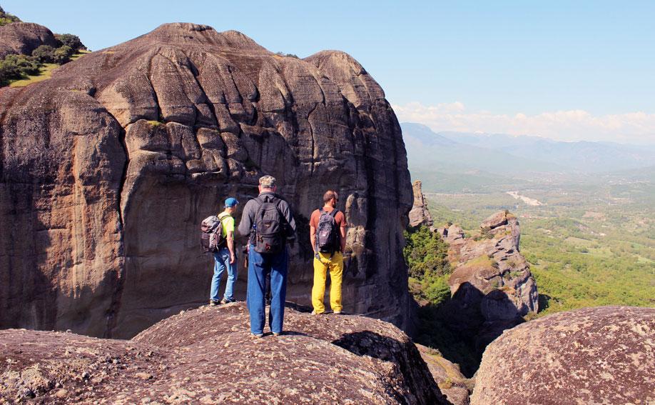 On top of the breathtaking Meteora rocks