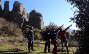 On an exciting hiking tour to Meteora