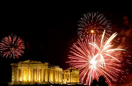 Fireworks above the Parthenon!
