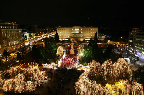 New Year celebrations in Athens