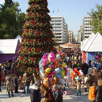 Christmas tree in Athens