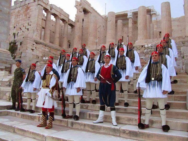 Evzones at the Acropolis