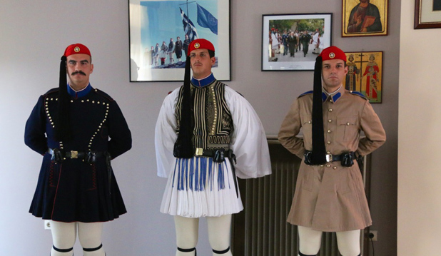 The Winter - the Formal - and the Summer Uniform of an Evzones