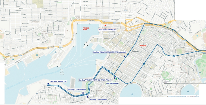 New Bus Line connection Piraeus port to Syntagma X80 enables you