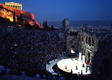 A performance in Herodes Atticus Theatre