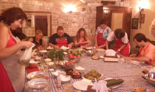 Join our fun- filled and creative Cooking Lesson and Dinner in a restaurant located near Thissio!