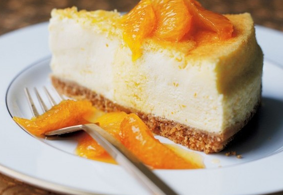 Cretan Cheesecake with Mizithra cheese and tangerine spoon sweet