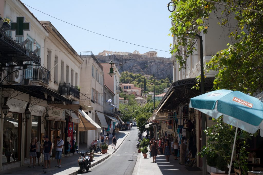 Towards the Acropolis