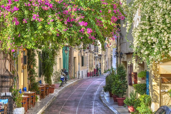 Amazing picturesque street in Plaka