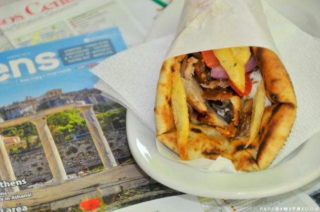 Athens Food Tour: Spoil yourself with a Greek pita gyros