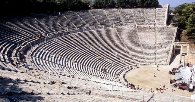 Attend a theater performance in Greece