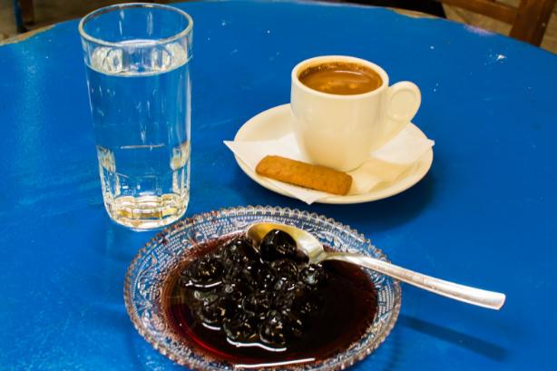 Spoon Sweet & Greek coffee