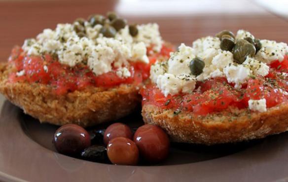 Ntakos (or Dakos): The original Cretan dish created with rusks!