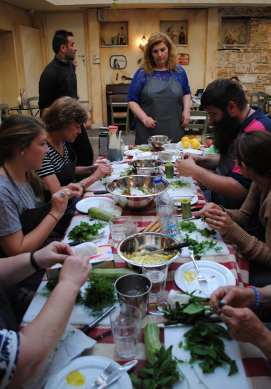 Take a cooking class in Athens