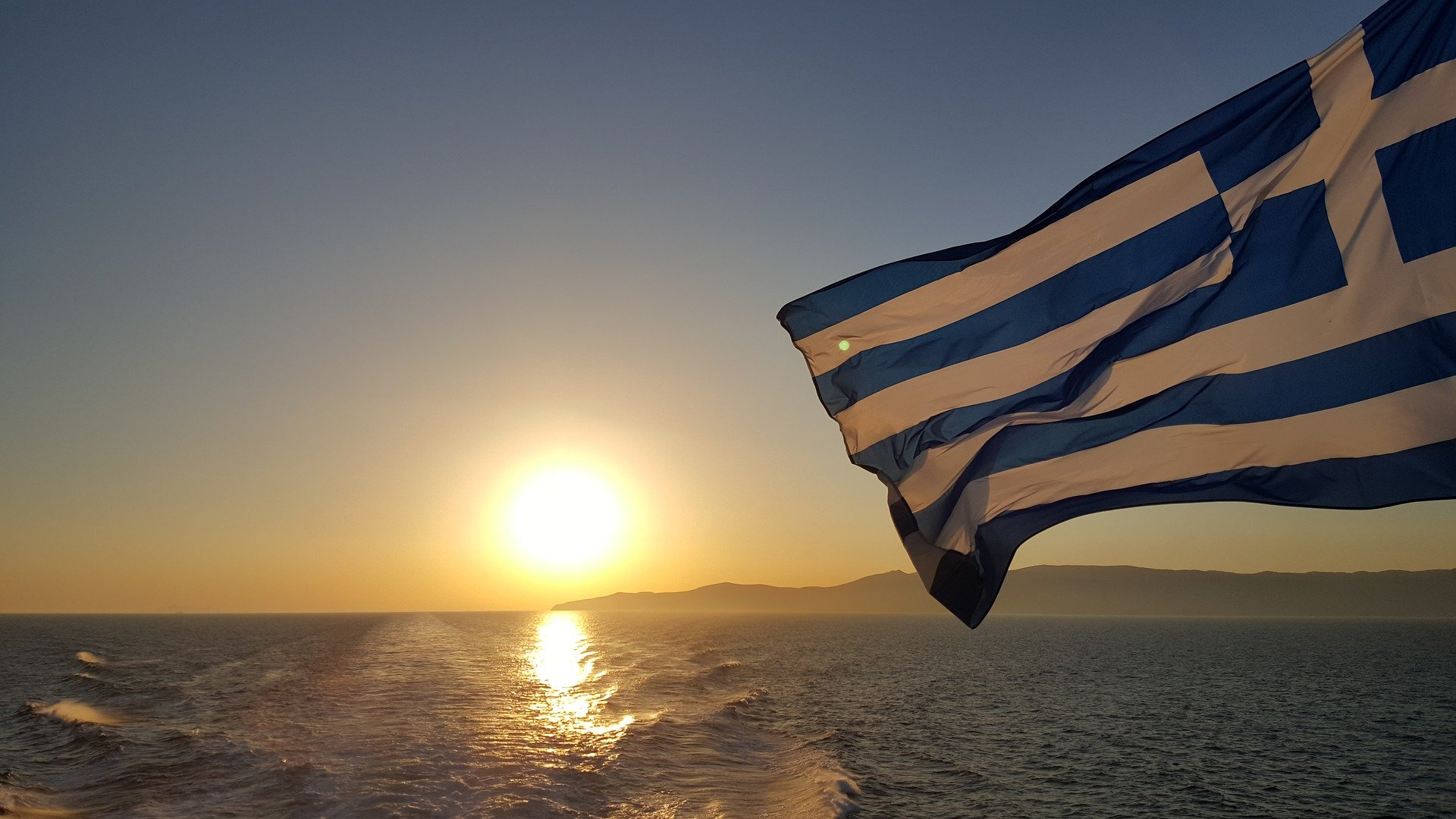 The globe turns Greek for a day