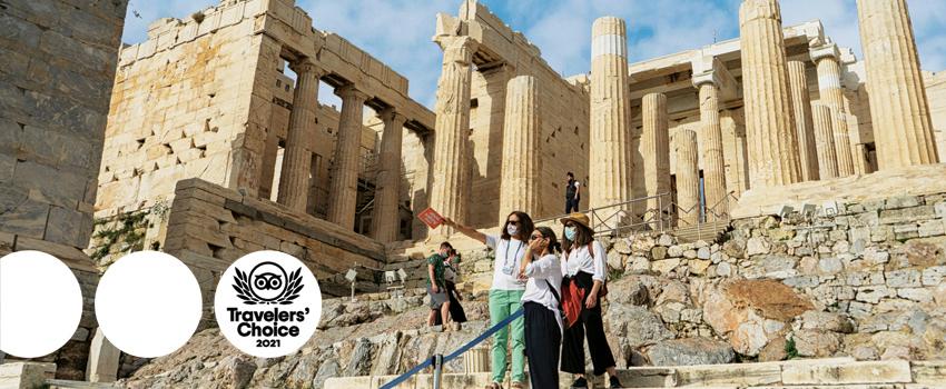 Athens Walking Tours wins its 9th Travelers' Choice Award by Tripadvisor